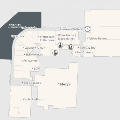 Westfield Southgate (Westfield Siesta Key) plan - map of store locations