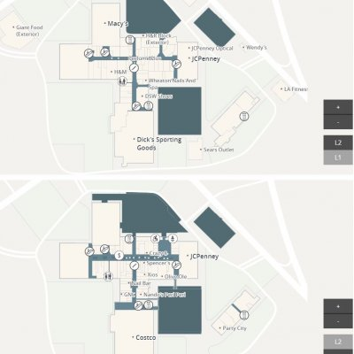 Westfield Wheaton plan - map of store locations