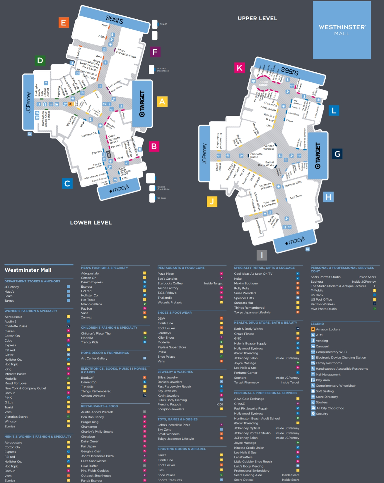 Westminster Mall Map Westminster Mall (117 stores)   outlet shopping in Westminster