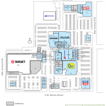 Westwood Village plan - map of store locations
