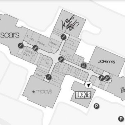 Woodbridge Center plan - map of store locations