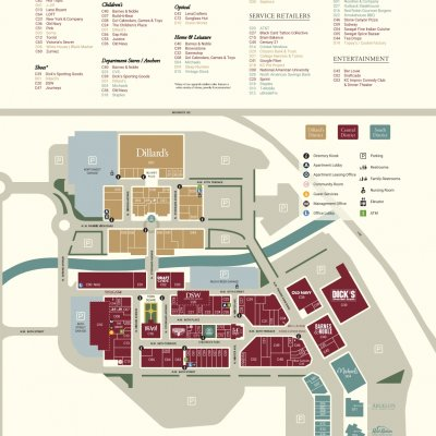 Zona Rosa plan - map of store locations